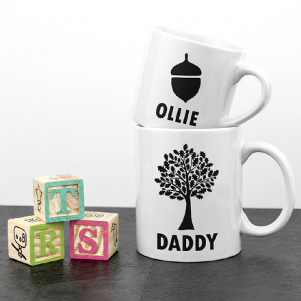 Daddy and Me Acorn Mugs